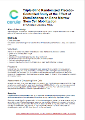 StemEnhance Research Summary by Christian Drapeau MSc, Chief Science Officer of Cerule
